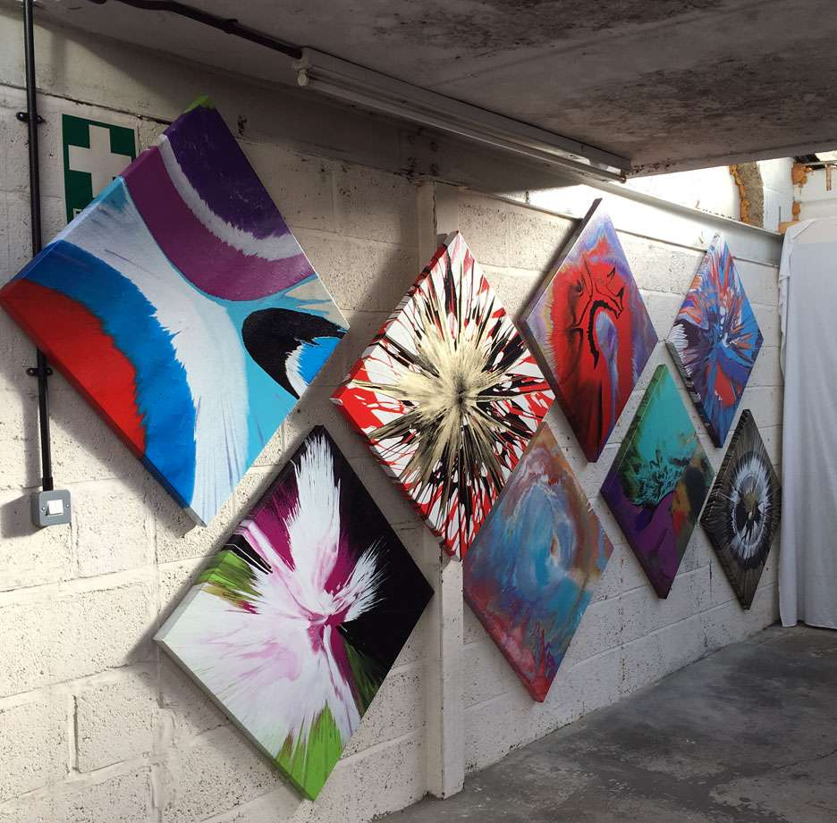 spin art paintings