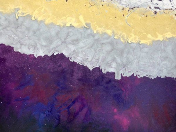 large purple and gold art