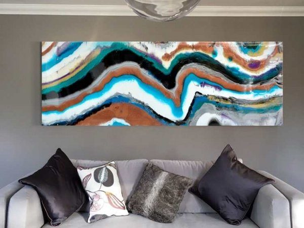 Geode inspired abstract art