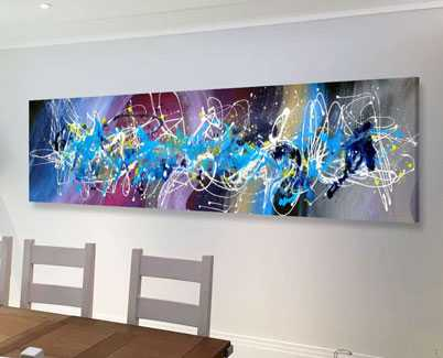 blue-and-purple-art-in-dining-room