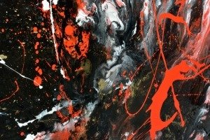 details of abstract painting
