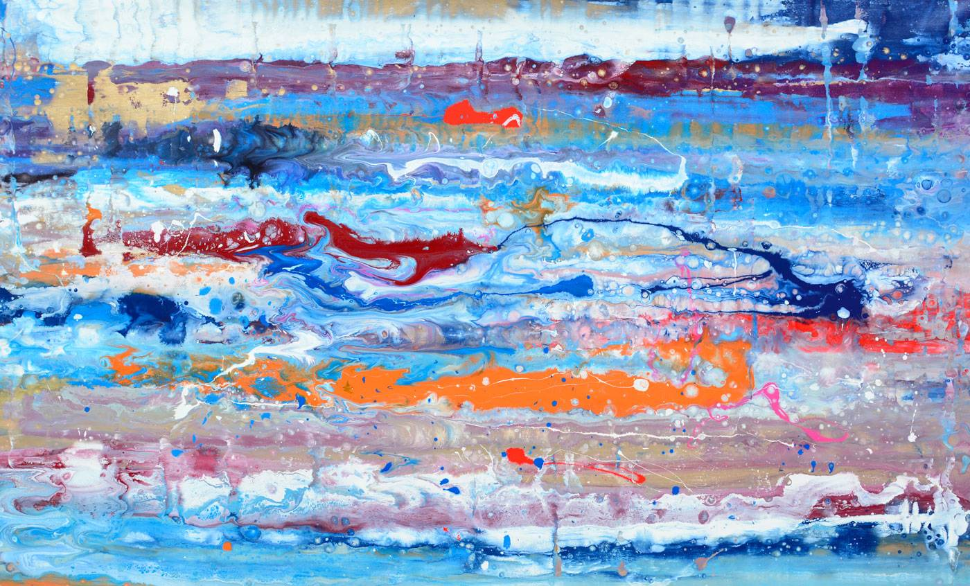 Blue-and-orange-abstract-art