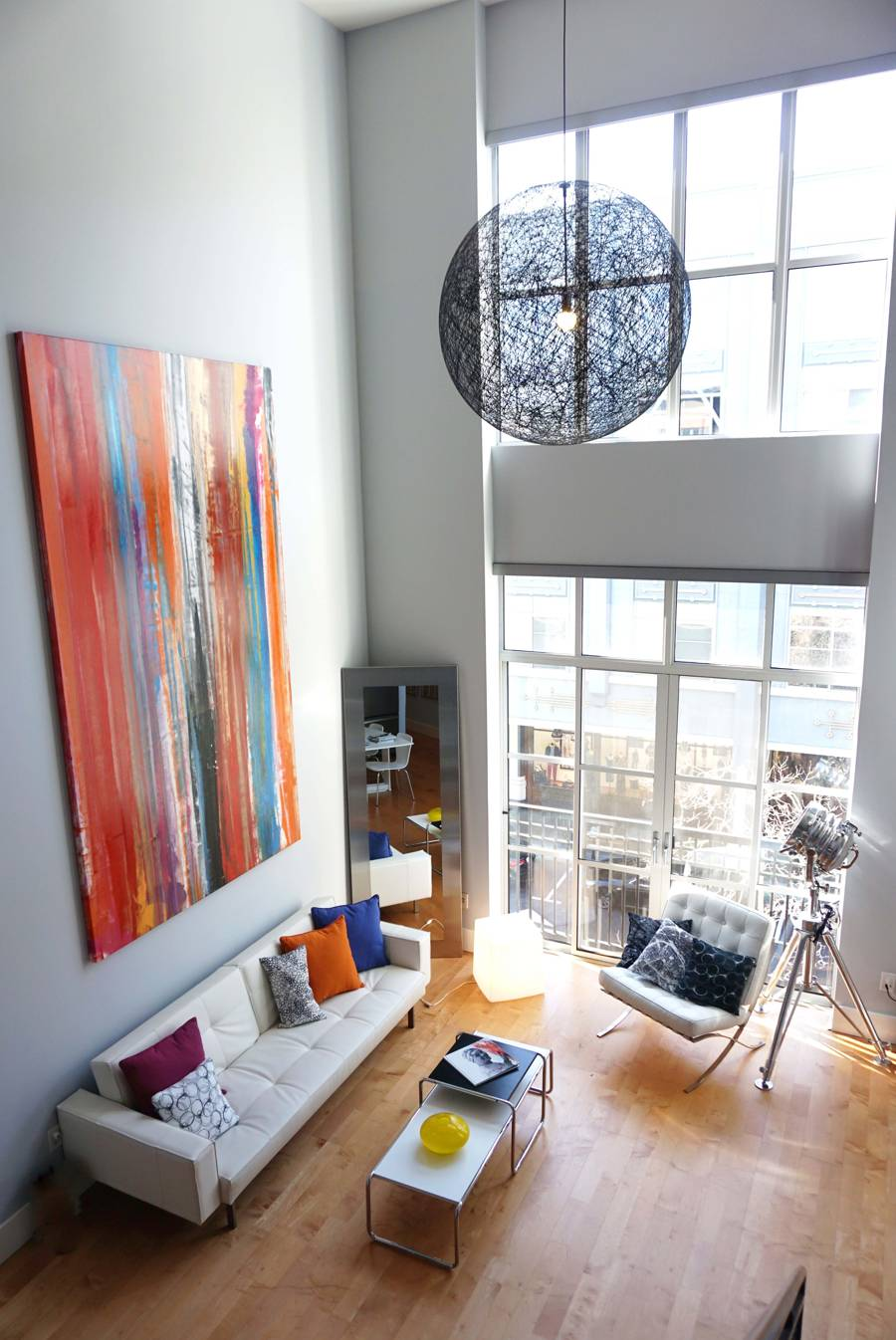 Very large abstract painting