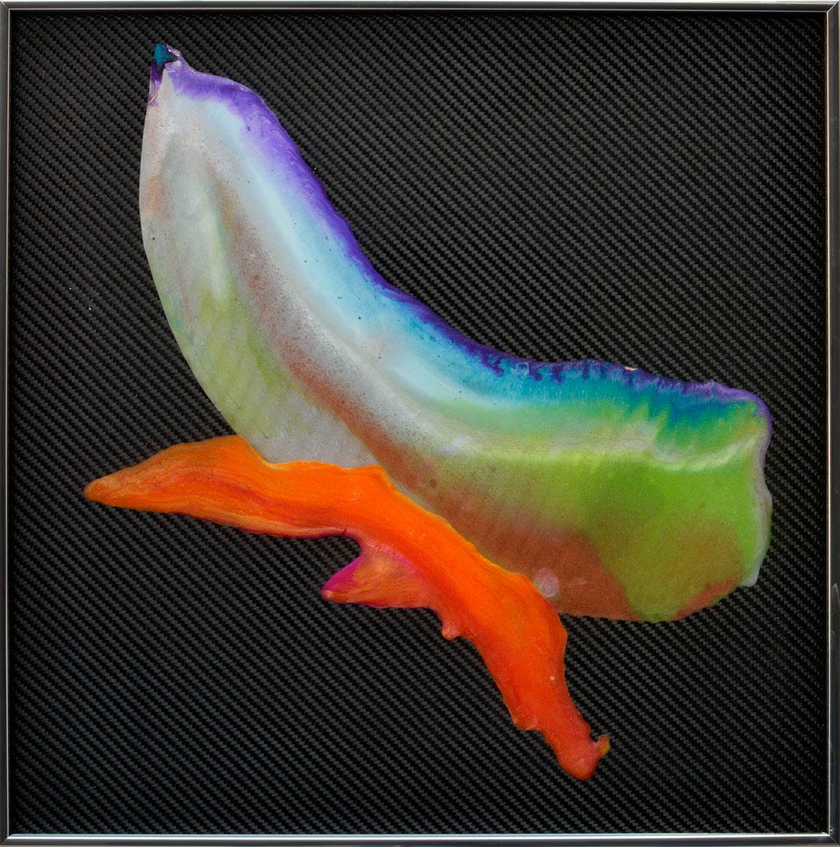 square carbon fibre art