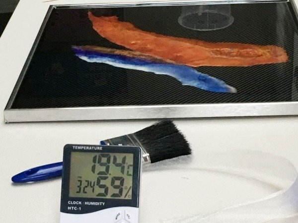 digital thermometer in a room
