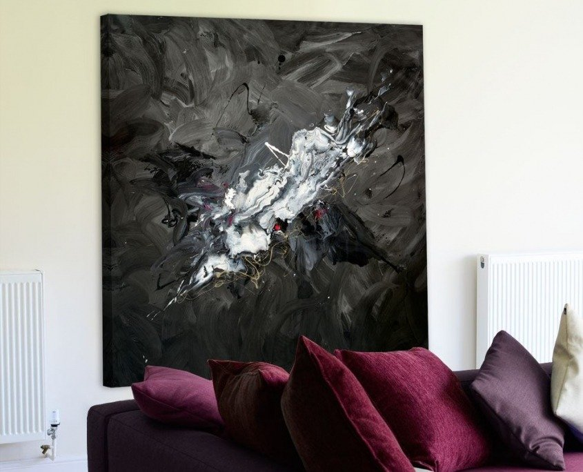 black canvas wall art