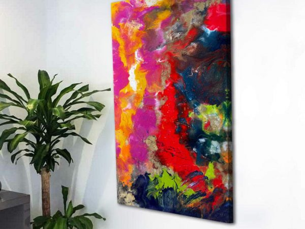 portrait upright abstract vibrant art