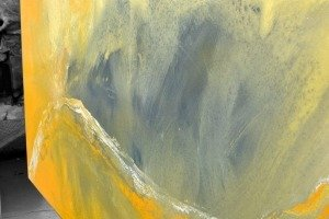 yellow and grey art