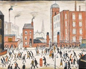 L.S.-Lowry-The-Rush
