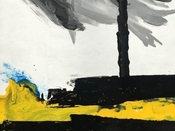 black paint with yellow accents