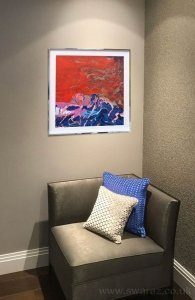 red-and-blue-art-on-a-wall