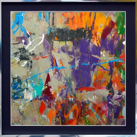 small multi coloured abstract art