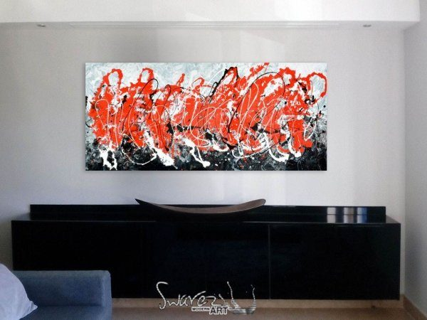 Love, Die, Repeat abstract red and black art