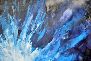 blue white and black paint on canvas (2)