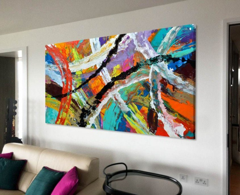 Rainbow-coloured-abstract-painting