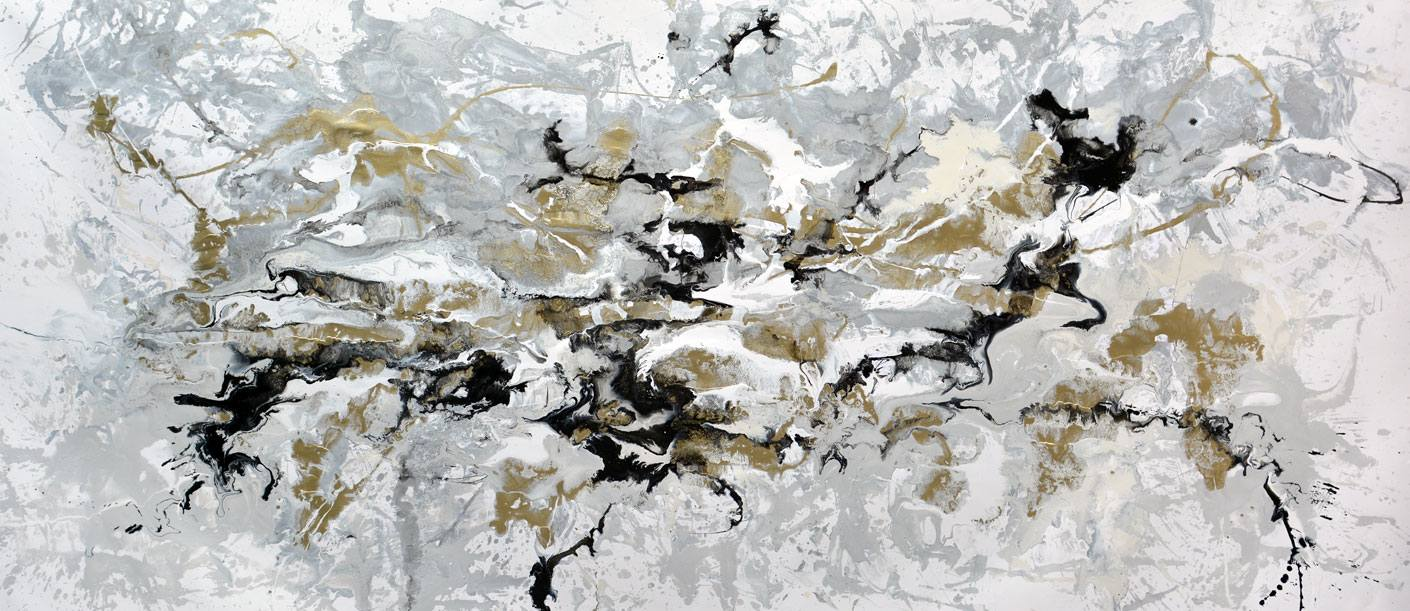 Moon Safari large abstract painting by Swarez