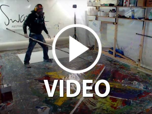 video of abstract painting being done