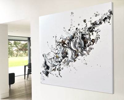 black and white painting