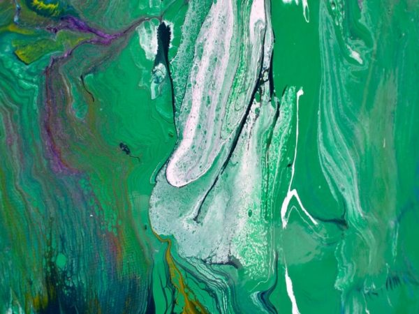green and white paints