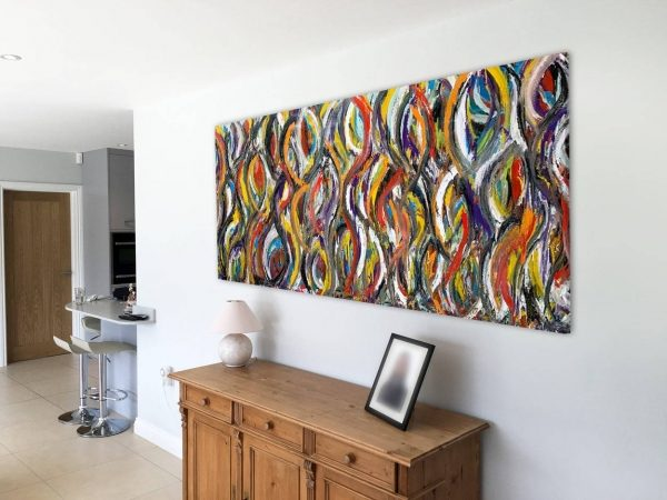 large multi colored art