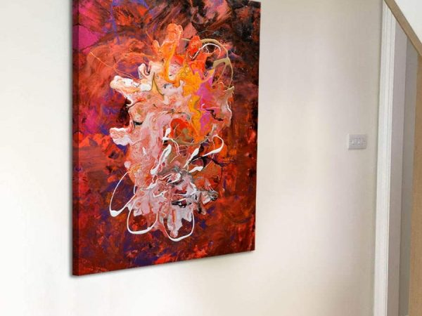 Red and orange modern art painting