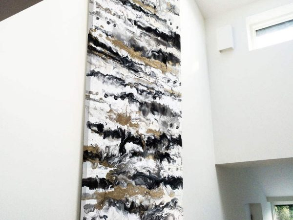 tall abstract art for hallway
