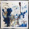 Blue and white modern art - Atlantica 3