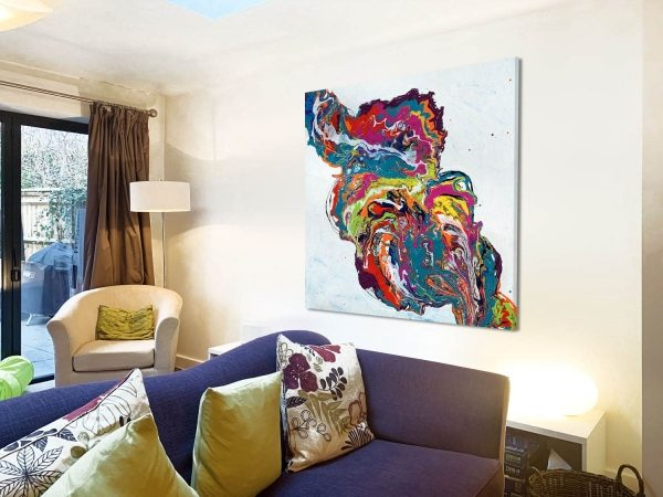 bright coloured art in a home