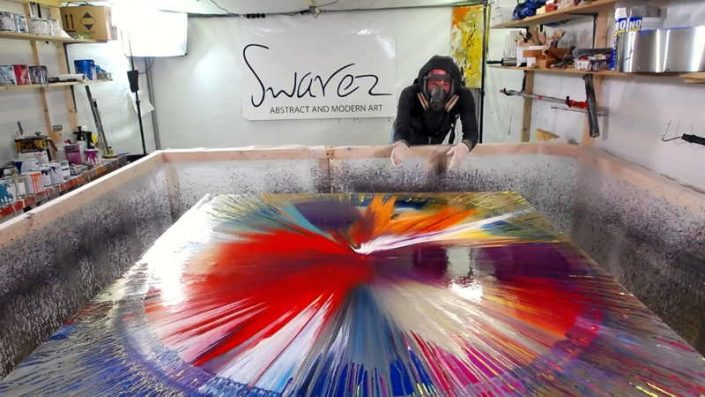 Live painting from Swarez HQ Spin art week 1