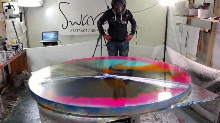 Live painting from Swarez HQ Spin art week 2