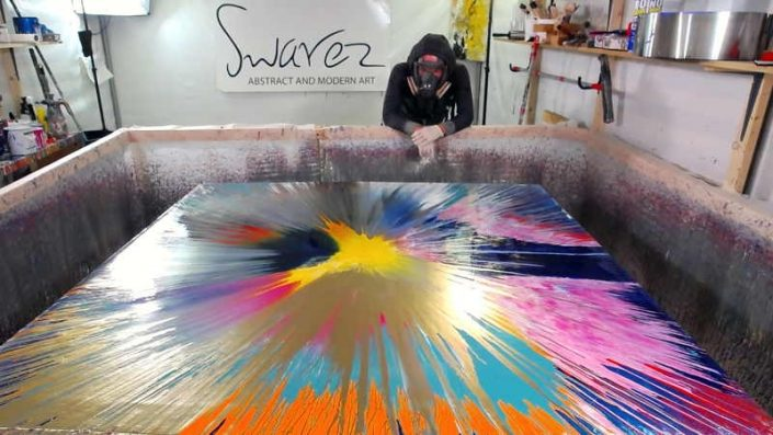 Live painting from Swarez HQ Spin art week 3