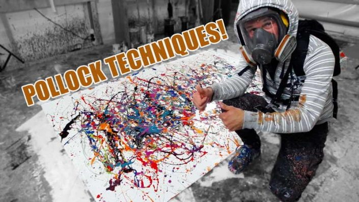 Live painting from Swarez HQ recreating Pollock techniques week