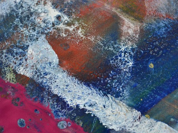 abstract painting details on canvas