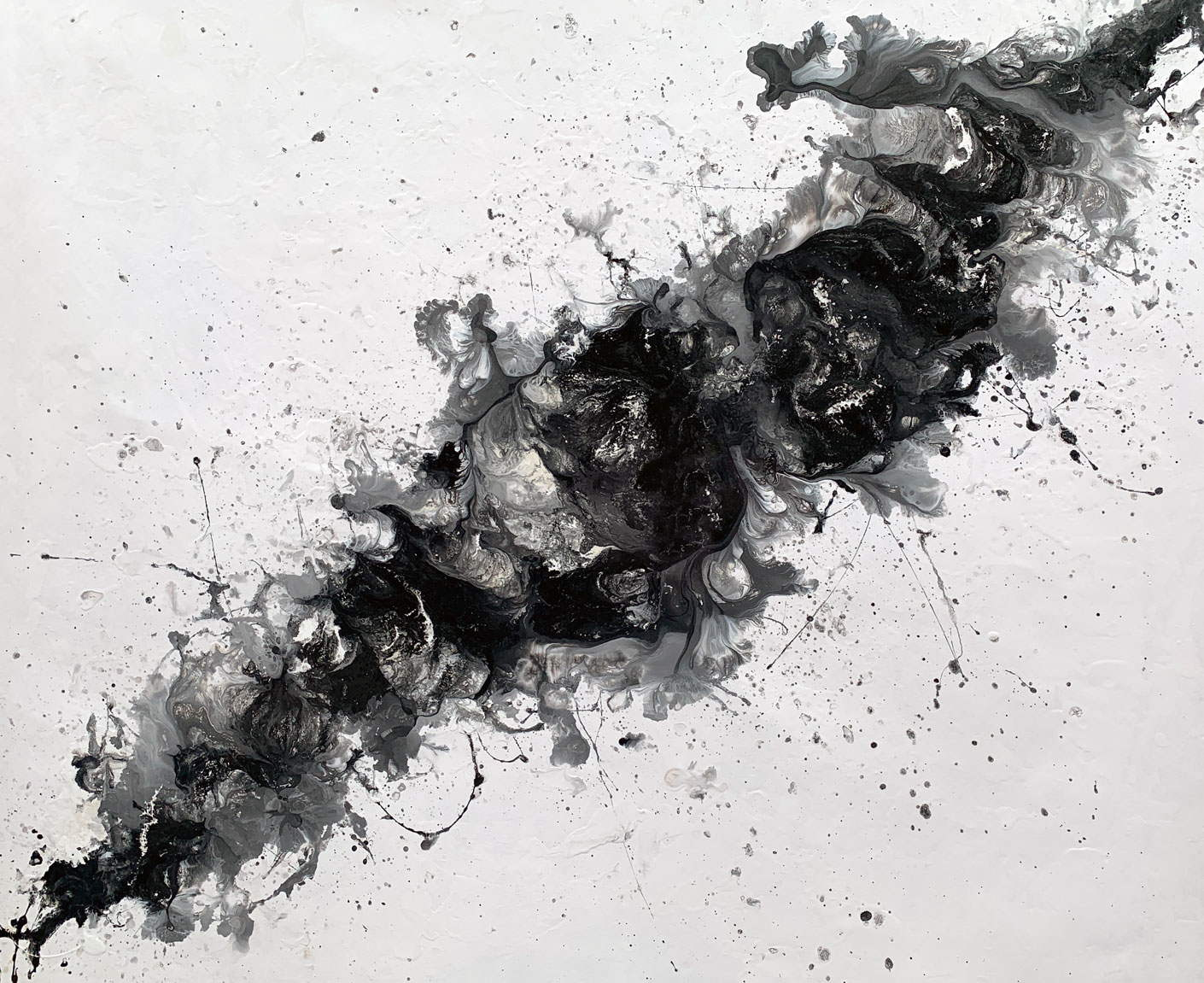 large black and white art