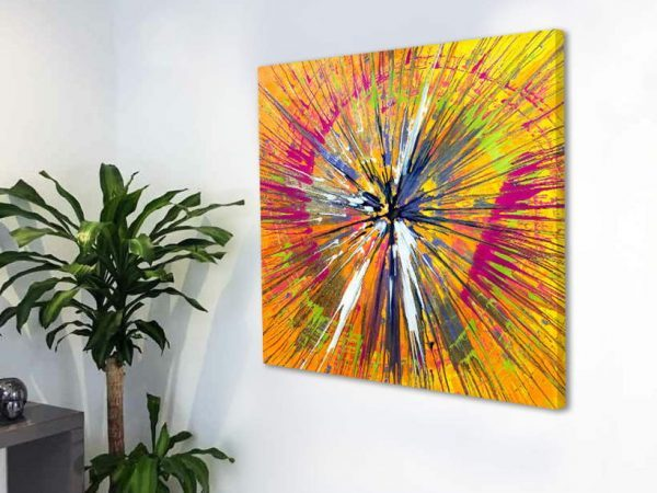 square orange and pink painting