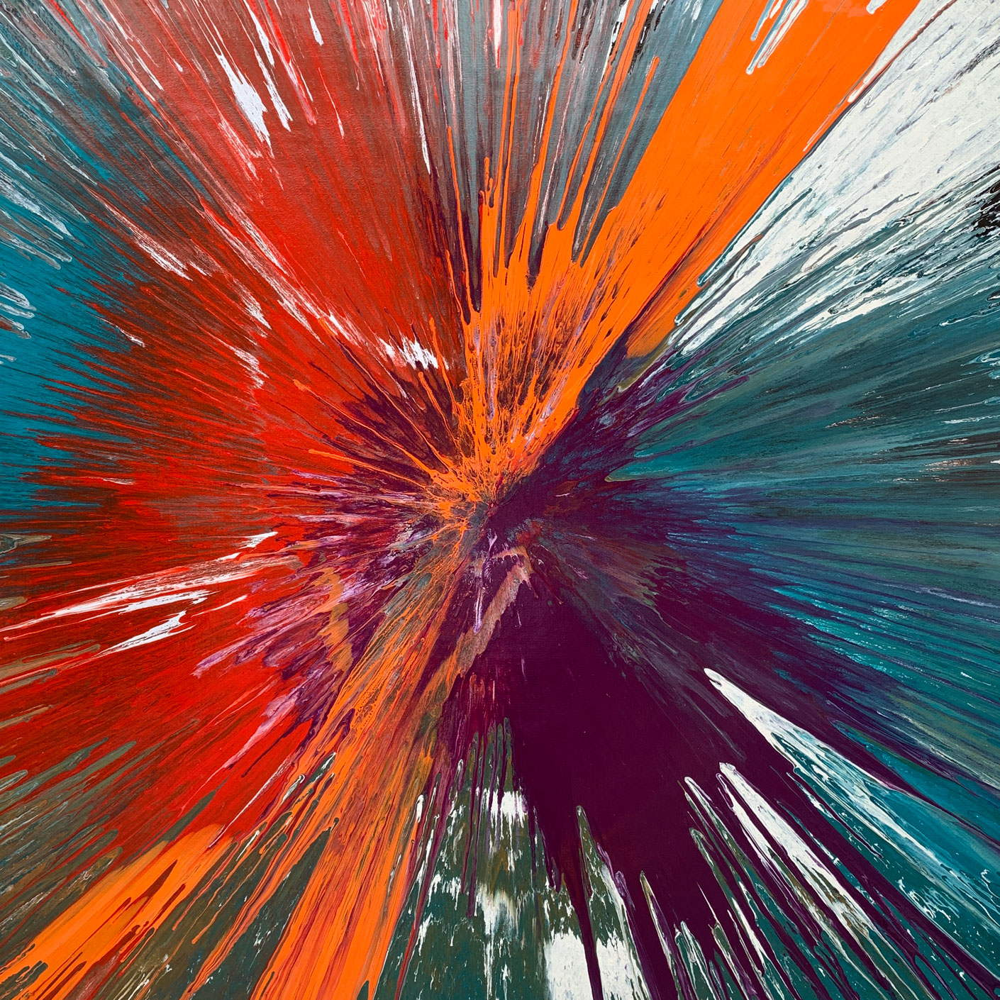 square spin painting by Swarez Art
