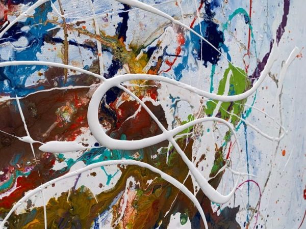abstract painting details