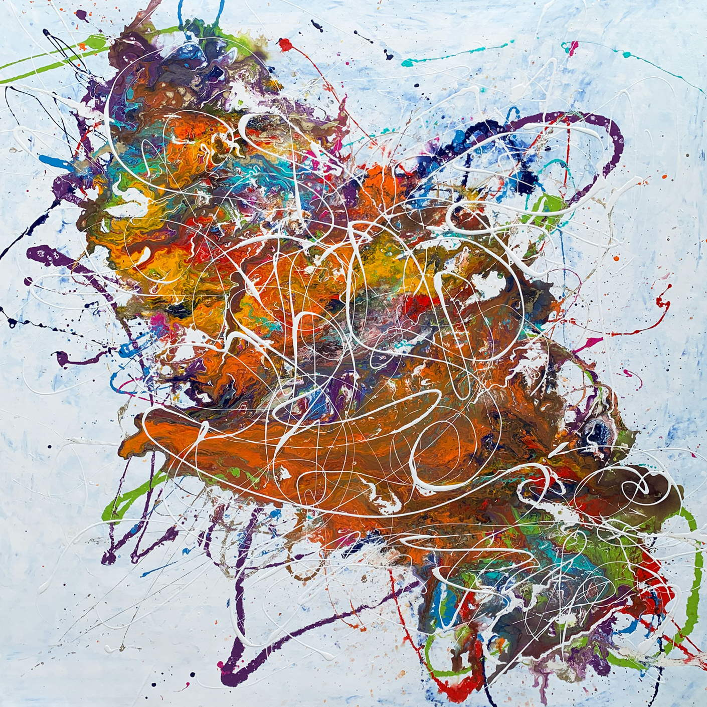 multi colored abstract art