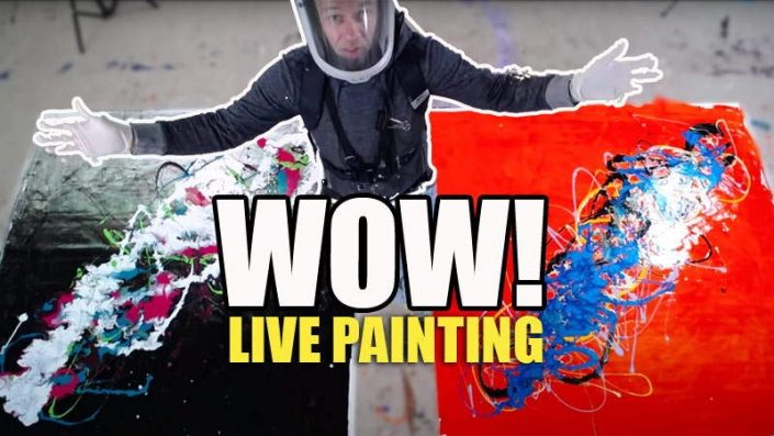 LIVE PAINTING 2 CANVASES