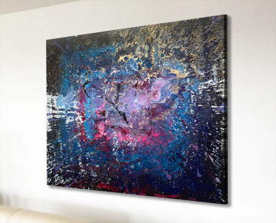 black pink and blue art