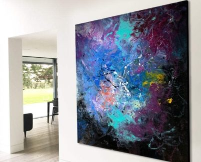 large modern art for a contemporary living space