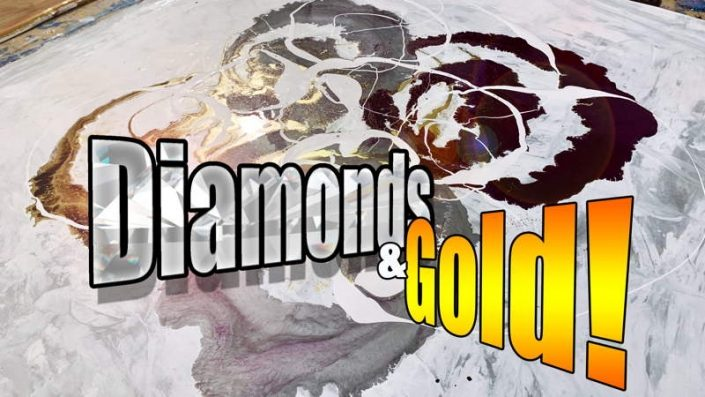 painting with diamonds and gold