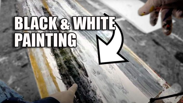 black-and-white-abstract-art-painting
