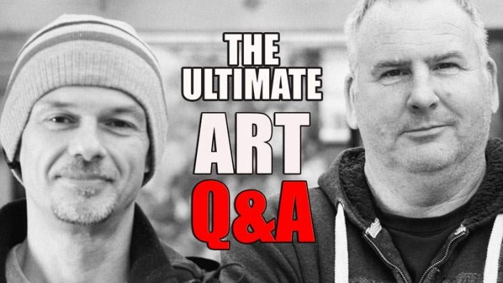 LIVE art Q and A event