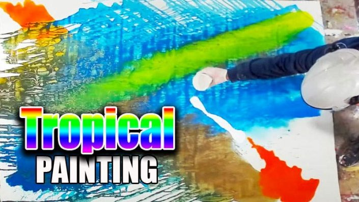 Tropical abstract painting