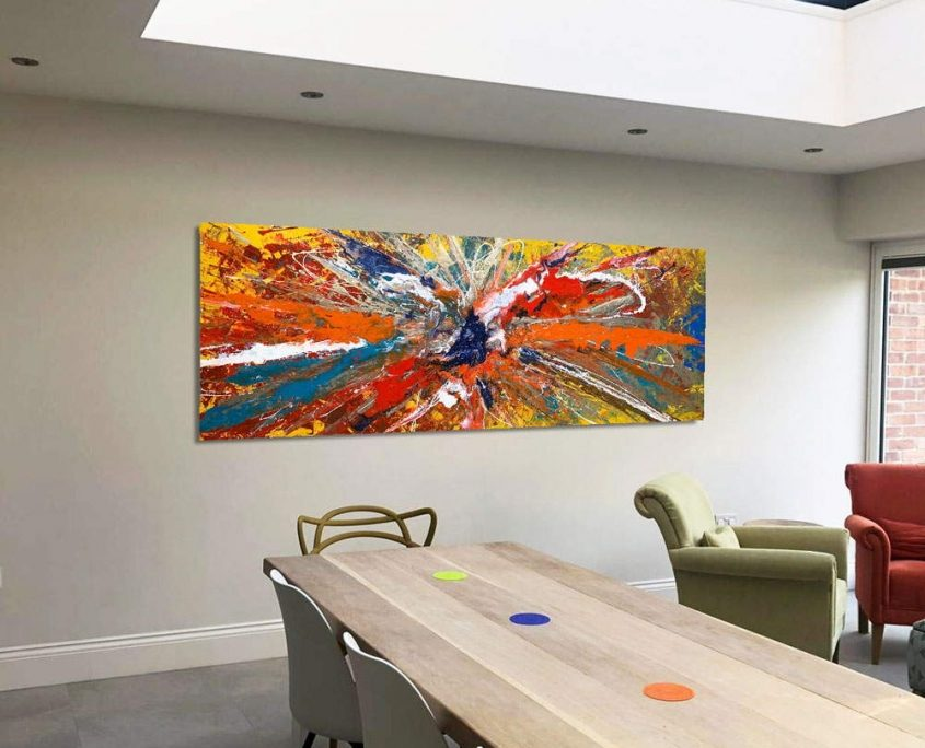 large art in open plan space