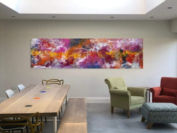 large floral abstract painting