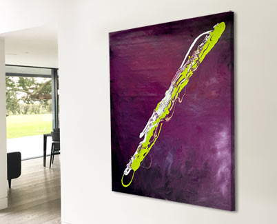 lime green and purple art