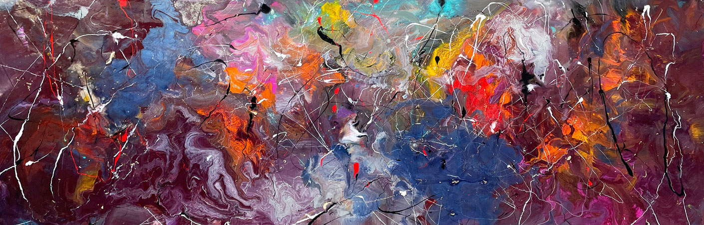 long abstract painting