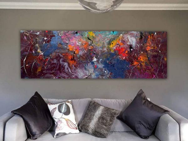 purple colored abstract art